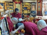 Kyabje Yongyal Rinpoche was in Taiwan for many days giving teachings and initiations to the sangha and laity present