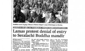 The exclusion of Shugden practitioners in Sera Lachi during the great prayer festival made headlines in local newspapers