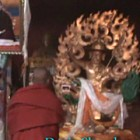 Huge Dorje Shugden statue of Tseri Sagong Monastery in Chamdo, Tibet