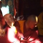 Dorje Shugden oracle takes trance while Lama Thubten Phurbu is giving Dharma talk