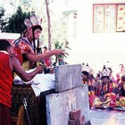 Kyabjye Zong Rinpoche performing Fire Puja
