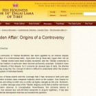 Dorje Shugden on DalaiLama.com: The Shugden Affair: Origins of a Controversy (Part I)