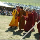Trijang Rinpoche confers Dorje Shugden initiation in Mongolia
