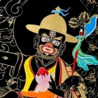 The five families of Dorje Shugden in nathang style