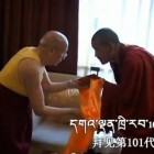 Lama Jampa Ngodup meets His Holiness Gaden Trisur Rinpoche