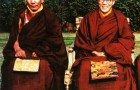 His Holiness the Dalai Lama and his tutor His Holiness Kyabje Ling Rinpoche