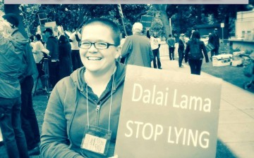 Extensive media coverage of Dalai Lama protests