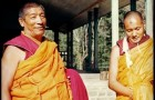 Postcard: Geshe Rabten and Lama Zopa