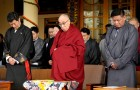 Sikyong Lobsang Sangay, the 14th Dalai Lama, and the Speaker of Parliament Penpa Tsering. Lobsang Sangay agreed to Tibet under communism, the Dalai Lama is accused of being a dishonest despot worldwide and Penpa Tsering shows contempt for high Tibetan lamas and penchant for untruths