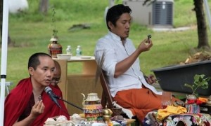 H.H. Trijang Choctrul Rinpoche (right) with Zawa Rinpoche