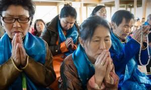 About 600 Mongolians attended the Dalai Lama's Teachings on Tsongkhapas's Lamrim