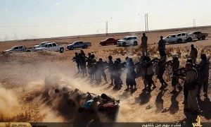 ISIS soldiers summarily executing their captives.