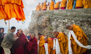 The Dalai Lama loved and revered as both a god and a king to the Tibetan people.