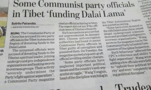 His Holiness the Dalai Lama has been accused of receiving money from the Chinese Communist Party
