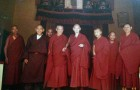 Pictured are His Eminence Kensur Lati Rinpoche (third from left, in the background), His Eminence Zemey Rinpoche, His Holiness Zong Rinpoche, a young His Holiness Pabongka Chocktrul Rinpoche and His Eminence Kensur Jampa Yeshe (far right). Despite the immense scholarship and attainments between all of these lamas, if they were alive today, none of them would be allowed back to Gaden Monastery for the sole reason that they all practiced Dorje Shugden. Yes, that is right, these lamas of such great repute would never be allowed to 'redeem' themselves in the hallowed halls of Gaden.