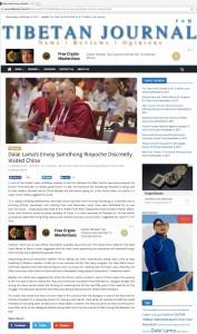 Dalai Lama's Envoy Samdhong Rinpoche Discreetly Visited China