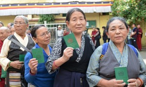 As they queue to vote, these women proudly brandish their green tax receipt books which identify them as being eligible to vote in the elections. But with so few choices of candidates who are always the same year after year, and are always plucked from the establishment, are they really participating in any kind of real democratic process?