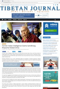 Samdhong Rinpoche Visited China