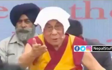 The 14th Dalai Lama Angers Nepal
