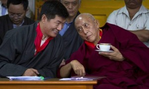What are these two plotting now? On the left is Lobsang Sangay, the current prime minister if the Tibetan people in exile and on the right is SR, his predecessor. Both of them were recently appointed by HHDL to be the DL's personal envoys. As the two most senior leaders in the CTA, how come they don't know where each other is at any given moment in time?