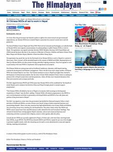 DS.com China NGOs enter Nepal