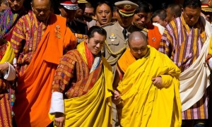 The 5th Druk Gyalpo His Majesty Jigme Khesar Namgyal Wangchuk and the current 70th Je Khenpo His Holiness Tulku Jigme Choedra. The position of the Je Khenpos was created by none other than Zhabdrung Ngawang Namgyal.