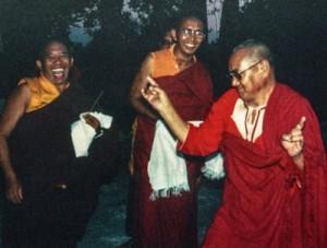 Lama Yeshe dancing