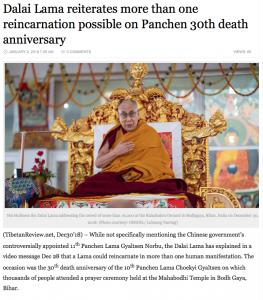 Dalai Lama reiterates