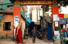 The entrance to Majnu Ka Tilla (also known as New Aruna Nagar) Tibetan Colony, New Delhi, India.