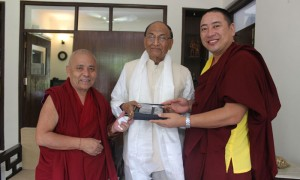 Member of Tibetan Parliament, Tenpa Yarphel (right).