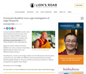 FireShot Capture 044 - Prominent Buddhist nuns urge investigation of Dagri Rinpoche - Lion's_ - www.lionsroar.com