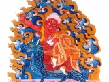 Old thangka of Namkar Barzin