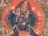 Thangka of Sacred Solitary Yamantaka