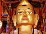 Huge image of Tsongkapa within Denma Gonsa Rinpoche's Monastery