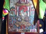 Antique thangka in Jampa Ling, Tibet