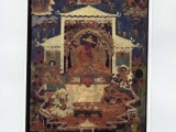 Seated Dorje Shugden thangka from the Sakya tradition