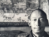 HH Zong Rinpoche with Dorje Shugden in the top left of the photo