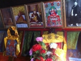 Jampa Ling Monastery's lamas with Dorje Shugden