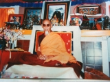 HH Zong Rinpoche with Dorje Shugden in the top right of the photo