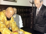Gangchen Rinpoche with the Prime Minister of Ecuador Mr Raul Vaca