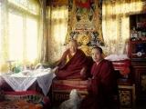 Kyabje Denma Gonsar Rinpoche and Zawa Rinpoche in Tibet