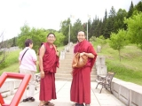 Zawa Rinpoche with Geshe Lobsang Sopa