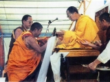 Geshe Rabten and HH the Dalai Lama