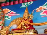 A statue of H.E. Zemey Rinpoche in Shar Gaden