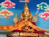 A statue of H.E. Dakpo Dorje Chang in Shar Gaden