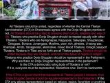 All Tibetans should be united, regardless of whether the Central Tibetan Administration (CTA) in Dharamsala agrees with Dorje Shugden practice or not. All Tibetans should be united to preserbe their culture, religions and way of life. Tibetans who practice Dorje Shugden should be treated equally with other Tibetans. Tibetans who are Nyingmapas, Sakyapas, Shugdenpas, Gelugpas, Bonpos, Jonangpas, Muslims, poor, rich, atheists, U-tsang-pas, Khampas, Amdo, transgender, alternative, mixed blood Tibetans, foreignpassport Tibetans, Tibetans in Tibet and so forth are all Tibetan people. Tibetans should be united because they are Tibetans, and not on the basis of region or religion. Tibetans who practice Dorje Shugden should be represented in the Parliament. Why are there no Dorje Shugden representatives in the parliament? Is the CTA a democratic ruling body of Tibetans or not? If it is, everyone must be represented. Modernize now. Don't be backwards. <br/><br/>If the CTA is a government that represents all Tibetan people's interests, then Dorje Shugden people should be equally represented in the Parliament. If the CTA only allows representation based on religion, region, favoritism or anything subject to the Dalai Lama's preference, then the CTA is not a government of all Tibetans but merely a impotent puppet of the Tibetan ruling class. Dorje Shugden people are not allowed in the mainstream monasteries, Tibetan clinics, hospitals, schools. They are not allowed to work in the Tibetan government. They are barred and don't deny it. Tibetan Dorje Shugden practitioners have been around for 400 years but suddenly in 1996 they are banned. No religion in Tibetan society should be banned if it is democratic. Tibetans of all religions and backgrounds need to be equally treated and represented in Parliament. When is the CTA going to be fair? Lobsang Sangay, are you going to do something to unite all your people or not? <br/><br/>རྡ་སར་ཡོད་པའི་བཙན་བྱོལ་སྒྲིག་འཛུགས་ཁང་ནས་རྡོ་རྗེ་ཤུགས་ལ