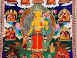 Huge thangka of Maitreya at Jampa Ling in Chamdo. 
