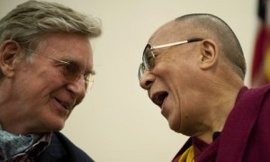 The Dalai Lama (R) and his friend Robert
