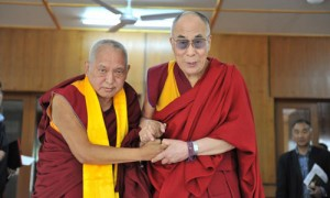 Lama Zopa, current Spiritual Guide of FPMT and His Holiness the Dalai Lama