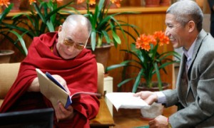 His Holiness the Dalai Lama and Thupten Jinpa